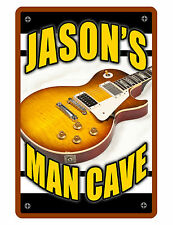 Personalized Man Cave Sign Printed with YOUR NAME CUSTOM LES P GUITAR SIGN D#069