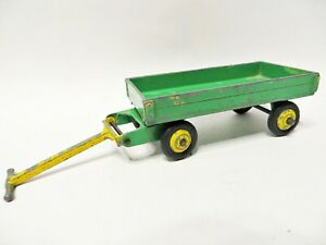 DINKY 105c/383 '4 WHEELED HAND-CART/TRUCK'. GREEN/YELLOW. VINTAGE. GOOD.
