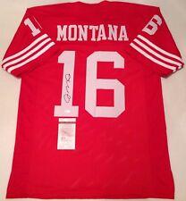 SAN FRANCISCO 49ERS JOE MONTANA SIGNED CUSTOM JERSEY JSA COA!!!