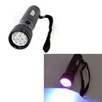 365nm 12-LEDs UV Flashlight / Blacklight Camping Hiking Ultra Violet Torch Light