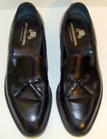 JOHNSTON & MURPHY CROWN ARISTOCRAFT MENS BLACK LEATHER LOAFERS SIZE 11M