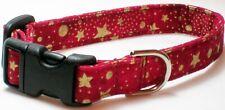 Gold Stars/Dk Red (#309) - Silky Terrier, Shih Tzu, Schnauzer, Cocker Spaniel