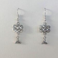celtique médiéval mariage Boucles d'oreilles entrelacs celtiques et triquetra