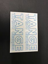 Tange TX -1200 Champion Fork STICKERS Decals Old School Bmx