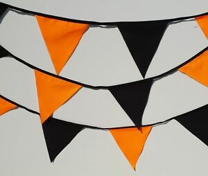 Orange and Black Halloween bunting  5 and 10 mtrs halloween party / spooky