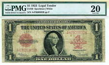 1923 $1 Legal Tender Red Seal  Speelman-White FR#40 : PMG 20
