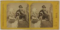 Scena Artistica Femmes Modalità Foto Stereo PL28Th1n17 Vintage Albumina c1870