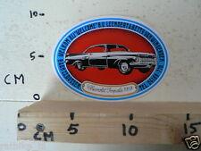 STICKER,DECAL CHEVROLET IMPALA 1959 LEENDERT & BETTY VAN WINGERDEN OLDTIMER CAR