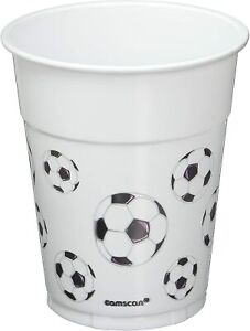 Strong Solid Plastic Pint Beer Cups - 473ml/16oz Birthday Party XMAS Tableware