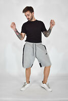 NIKE Vintage Bermuda Sportivo Grigio Bande Nere In Cotone Cotton TG XL Uomo Man