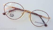 Damenbrille gold Hornoptik stabil Federscharnier gleitsichtfähig abgerundet Gr.M