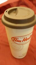 Tim Hortons travel mug 2012 covered plastic lid 12 oz premium blend since 1964
