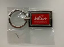 Limited Edition Rectangle Believe Keyring - Believe Organ Donor Support