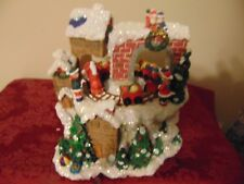 Retired The San Francisco Music Box Company Musical Santa W/Train -