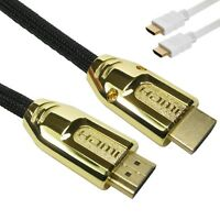 14CM/1M/2M-5M PREMIUM UltraHD HDMI Cable v2.0 High Speed 4K 2160p 3D & V1.4 Lead