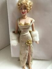 "FRANKLIN MINT Marilyn Monroe 16"" Vinyl Doll MILLENNIUM Displayed No Stand or Box"