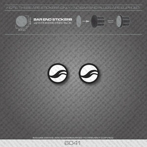 6041- Giant Bicycle Handlebar Bar End Plug Stickers - Decals
