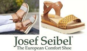Josef Seibel Germany comfort leather platform sandals Josef Seibel Clea 09