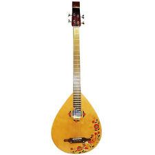 New Rare Ukrainian Folk Guitar Kobza Bass Wooden Graphic 4 Strings Original, 56