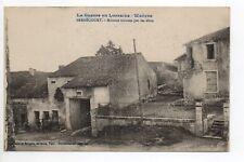 BERNECOURT Meurthe et moselle CPA 54  maisons trouées d'obus la guerre en Woevre