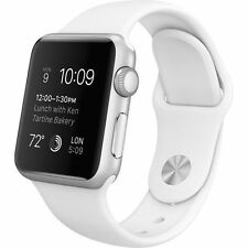 Apple Watch Sport. - 38mm Aluminum Case - White Sport Band MJ2T2LL/A
