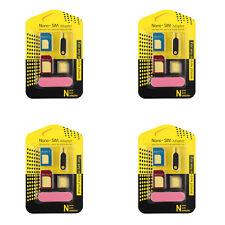 4Pcs Nano SIM Card to Micro Standard Adapter Converter Set For Samsung iPhone
