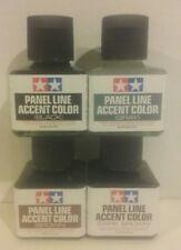Tamiya Panel line accent color, 4 pcs bundle