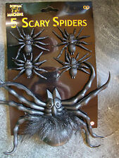 5 x Halloween Spiders Party Decorations Favours prizes loot fillers Table decor