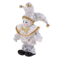 Victorian Porcelain Doll Triangel Harlequin Doll Figures Arts Crafts White