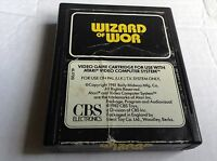 Atari 2600 Vtg Game #retrogaming Wizard Of Wor CBS White Label Cart Only uc