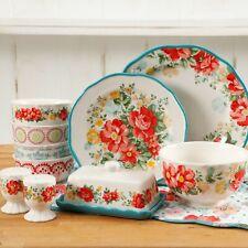 Elegant Dinnerware Set Plates Ceramic Vintage Floral Pioneer Woman 20-Piece
