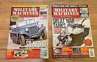 Military Machines International Magazine lot of 2: 2014 and 2012 Tanks