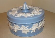 Wedgwood Queensware Lavender Blue / Cream Covered Candy Dish Excellent Condition