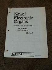Kawai Electronic Organ K E-600 E-600DX Schematics Diagram Manual (K)E-600 DX