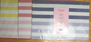 Kate Spade SPRINGTIME Placemats Set Of 4 Striped Polyvinyl Choose Pink Yell Blu