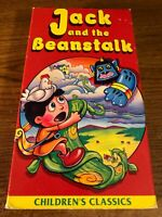 Jack And The Beanstalk  VHS VCR Video Tape Movie Used Cartoon RARE