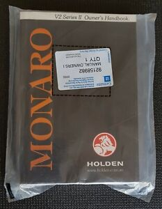 V2 Series II Monaro Owners Handbook Manual 2003 Genuine GM Holden NOS 92158982