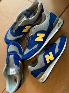 New Men's New Balance 577 Made In England Blue & Yellow Sz 9.5 & 13