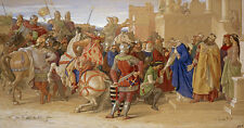 Piety: the Knights of the round table william Dyce chevalier chevaux B a3 03495