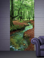 Door Wall STICKER forest brook