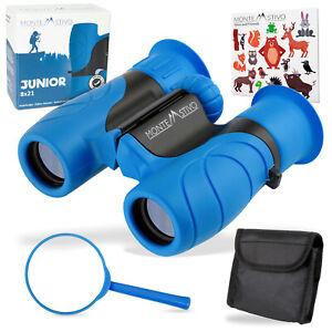 Monte Stivo Junior   Fernglas für Kinder 8X21 blau   Klein, leicht & kompakt