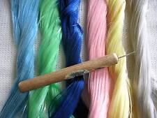 Pro Hair Rooting Tool 4 Vintage / Fantasy / Fairies / Ooak + 1 Skein Saran