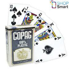 COPAG BRIDGE SIZE 100% PLASTIC PLAYING CARDS DECK BLUE REGULAR STANDARD INDEX