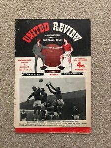 1961/2 MANCHESTER UNITED V BURNLEY