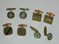 lot ancien vintage BOUTON de MANCHETTE doré or BIJOUX chemise VINTAGE cufflink