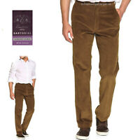 New Mens Marks & Spencer Brown Cord Trousers Size 46 42 40 38 36 34