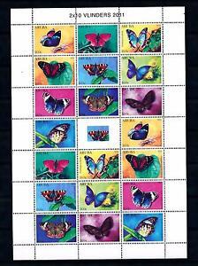 [ARV574] Aruba 2011 Butterflies Schmetterlingen Papillons Miniature Sheet MNH