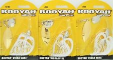 (3) Booyah Bait Company 1/2 Oz Vibra Wire Spinner Baits Prl Wht BYVWT12615