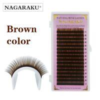NAGARAKU Brown Eyelash Extension Individual Faux Mink Lash False Fake Lashes