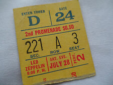Led Zeppelin Original_1973_Concert Ticket Stub_Madison Square Garden